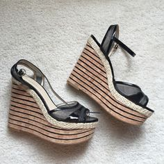 WORN ONCE ENZO ANGIOLINI WEDGES They're PERFECT for the summer! Buy now! Enzo Angiolini Shoes Wedges