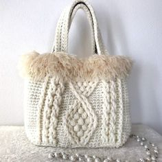 Handmade Handbags, Handmade Bags, Crochet Clutch, Knit Crochet, Crochet Skirts, Recycled Sweaters, Macrame Bag, Bag Patterns To Sew, Silk Ribbon Embroidery