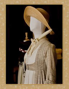 Cream And Beige Regency Dress, reminiscent of Sense and Sensibility.