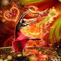 All Consuming Fire Digital Art / Delores DeVelde