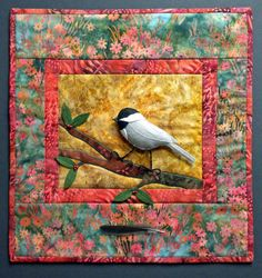 Chickadee Art Wall Hanging Quilt Pattern by PatriciaIsArt