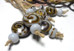 Lampwork  Glass bead handmade  Beads pale lilac  by Glasskaramelka