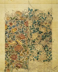 'Rose' textile design by William Morris, produced by Morris & Co in 1883
