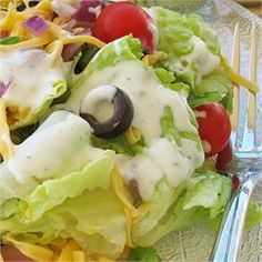 Ranch Dressing: I added additional mayo to balance out the sour cream & thinned the finished product with milk.