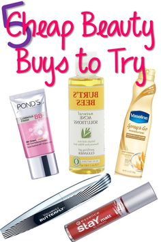 5 Cheap Beauty Buys to Try