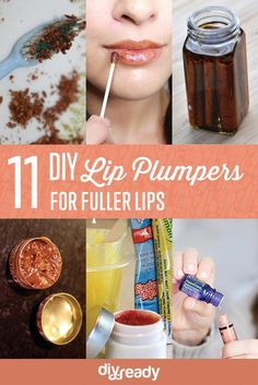 11 DIY Lip Plumpers #KoreanBeautyRoutine Make Lips Bigger, Diy Lip Plumper, Lip Plumpers, Natural Lip Plumper, Homemade Lip Plumper, Natural Lips, Beauty Hacks For Teens, Lipstick Dupes, Awesome