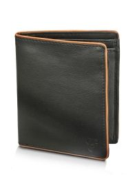 Ecru contrast Leather wallet