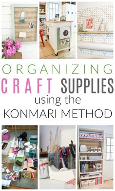 Inside: Tips for organizing craft supples with the Konmari method of decluttering; tips for how to effectively declutter and purge your crafting supplies and then how to store them to suit your lifestyle and needs. Diy Design, Craft Room Design, Craft Room Storage, Craft Organization, Organizing Ideas, Storage Ideas, Receipt Organization, Decluttering Ideas, Organizing Your Home