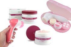 Pack LIMPIEZA FACIAL: 1 Set Limpieza Facial 4 en 1 de Touch&Beauty + 1 PEELING con Microgránulos de Arrastre 50 ml DBullon + 1 MASCARILLA FACIAL CALMANTE con Alantoína y Aminoácidos de Seda Natural 50 ml DBullon