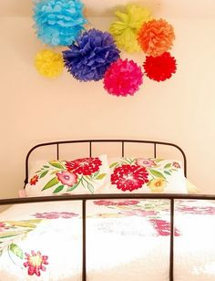 Adorable, Cheap Tissue Paper Decorations #Creative #Crafts #DIY #Flower #Bedroom #Colors #Party #Decoration