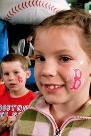 red sox face paint - Google Search