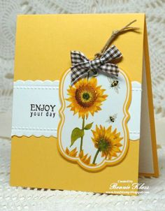 QFTD172 Sunflower Tag for Queen Benzi by bon2stamp - Cards and Paper Crafts at Splitcoaststampers