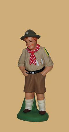 SANTONS ESCOFFIER 7302 - Le scout - Collection 7cm