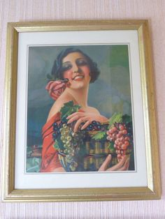 DEUX PORTRAITS de FEMMES ANCIENS CHROMOS GASPARD CAMPS bien encadrées in Art, antiquités, Art du XIXème, et avant, Estampes, gravures, lithos | eBay