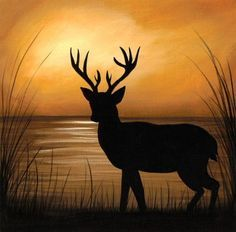 deer+painting+images   painting of a little place i like to call deer lake the painting ...