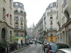 Street level of Paris Apartment building