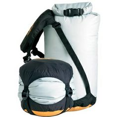 PERFECT to keep your down sleeping bag dry & compressed! eVent Compression Dry Sack #SeatoSummit at RockCreek.com #giftideas