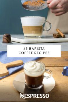 You're sure to impress your friends and family when you prepare these 43 Baris. Cafe Latte Recipe, Barista Recipe, Cappuccino Recipe, Frappe Recipe, Mocha Recipe, Coffee Barista, Coffee Latte, Coffee Shop, Coffee Drink Recipes