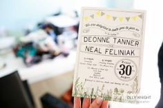 Neal & Dee's Wedding- Vintage Wedding Invite