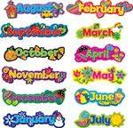 Creative Teaching Press Popping Patterns, Seasonal Months of the Year Add seasonal flair to any calendar display! Classroom Calendar, Classroom Bulletin Boards, Classroom Rules, Classroom Displays, Classroom Decor, Kids Calendar, Space Classroom, Monster Classroom, Classroom Charts