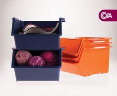 Organizar agora ficou muito mais fácil e prático!    As caixas empilháveis são excelentes recursos para os mais diversos ambientes, na cozinha para frutas e legumes, no escritório para papéis, na lavanderia para produtos de limpeza, no banheiro para papel higiênico e toalhas.