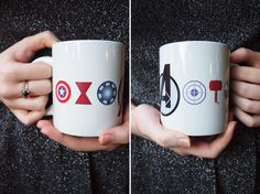 Avengers Inspired Ceramic Mug by AfternoonCoffee on Etsy, $18.00