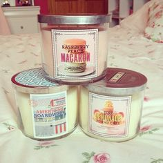 Candles from Bath & Body Works ♡ I have the macaron one!