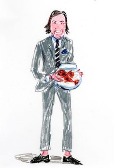 Carlos Souza by Jean-Philippe Delhomme Andy Spade, Jack Spade, Illustration Sketches, Illustrations And Posters, Fashion Illustrations, Weird Fish, Jean Philippe, Fashion Sketchbook, I Dress