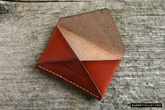 Disciple Leather Card Holder in Russet   Barrett Alley - Handmade in USA