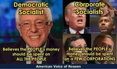 The fact that we collect taxes to be spent on the common good means that America has always been founded on socialist principles.  Do we want that money spent on Democratic ideals, or corporate welfare?