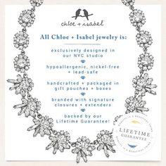 Find out more about Chloe + Isabel by visiting www.chloeandisabel.com/boutique/kristelcaffrey