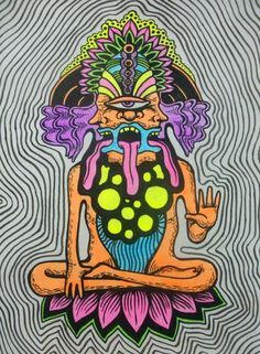 "fuckyeahpsychedelics: "" ""Good Vibrations"" by PGT-diabolical "" Psychedelic Art, Arte Hippy, Lsd Art, Trippy Painting, Stoner Art, Hippie Art, Dope Art, Visionary Art, Best Vibrators"
