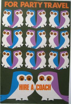 Daphne Padden Owl Party travel poster