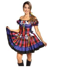 vestido de festa junina modelo moderno