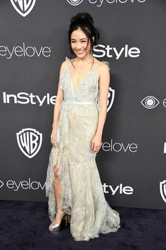 Constance Wu in Marchesa - Golden Globes 2017 After Party