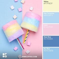 Pastels Color Palette - Trend Topic For You 2020 Summer Color Palettes, Color Schemes Colour Palettes, Spring Color Palette, Summer Colors, Colour Combinations, Pastel Colour Palette, Colour Pallette, Pastel Colors, Soft Colors