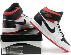 online retailer 88886 d78cd Jordans 1 White Red Black sale, click the picture to buy it.