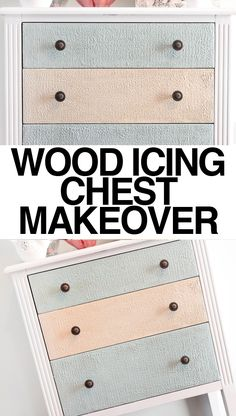 wood icing chest makeover Not sure I live the texture, but I do like the colors. Furniture Projects, Furniture Makeover, Wood Projects, Diy Furniture, Carpentry Projects, Painted Furniture, Office Furniture, Crafts For Teens To Make, Diy And Crafts