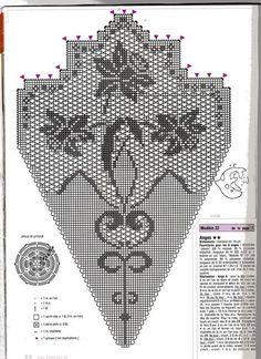 Kira scheme crochet: Scheme crochet no. 3629 - My CMS Filet Crochet Charts, Crochet Diagram, Crochet Motif, Crochet Doilies, Crochet Flowers, Free Crochet, Thread Crochet, Crochet Scarves, Crochet Stitches