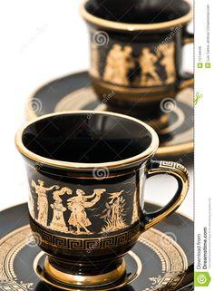 tazze caffè | Tazze di caffè greche. Arte greca, accumulazione greca delle tazze ...