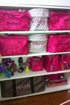 Little girls closet with multiple 31 items. Too cute and very organized