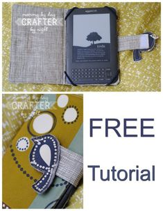 Full step by step photo tutorial on how to sew a fabric case or cover for your Kindle. Also can be used for a Nook, iPad, tablet or even a phone. The sewing tutorial can be adapted to sew a cover for any tech items. Easy Sewing Patterns, Bag Patterns To Sew, Sewing Tutorials, Sewing Hacks, Sewing Projects, Kindle Case, Handbag Patterns, Sewing Basics, Beautiful Gifts