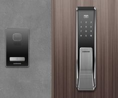 Powered by eight AA batteries, the Two Way Fingerprint Door Lock can store and recognize up to 100 fingerprints.