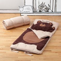 Sleeping Bag Bear: looks so warm and cuddly cozy