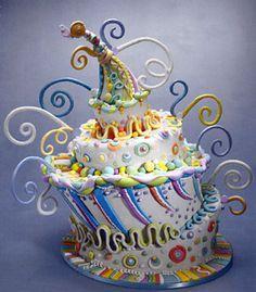 looks like a dr. seuss cake!