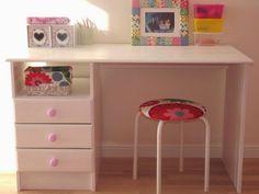biurko jysk odnowione i przemalowane