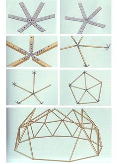 It's all in Russian but the images are very helpfull. Dome Greenhouse, Greenhouse Plans, Garden Projects, Wood Projects, Woodworking Projects, Parametrisches Design, House Design, Glamping, Diy Deco Rangement