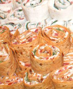 The Two Bite Club: Bacon, Lettuce & Tomato Pinwheels - make some gluten free tortillas to make these tasty bites gluten free