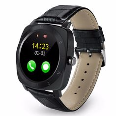 Sale 20% (27.99$) - X3 Bluetooth Sleep Monitor Remote Camera Music SIM TF Card Leather Android Smart Watch