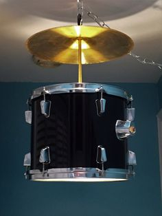 Awesome drum and cymbal swag light!! by KMacKreations on Etsy